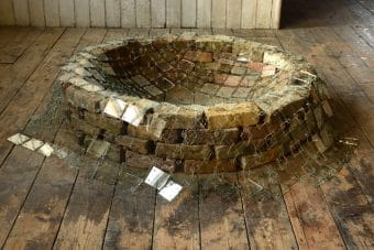 Ripple of Light 2020 glass recycled bricks